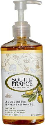 Lemon Verbena, Hand Wash with Soothing Aloe Vera, 8 oz (236 ml) by South of France, 洗澡,美容,肥皂 HK 香港