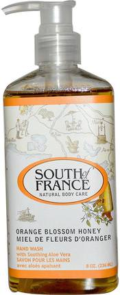 Orange Blossom Honey, Hand Wash with Soothing Aloe Vera, 8 oz (236 ml) by South of France, 洗澡,美容,肥皂 HK 香港