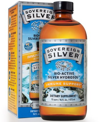 Colloidal Bio-Active Silver Hydrosol, 10 PPM, 16 fl oz (473 ml) by Sovereign Silver, 補充劑,膠體銀,礦物質,液體礦物質,銀水溶膠 HK 香港