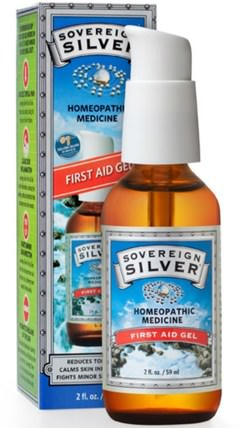 Silver, First Aid Gel, 2 fl oz (59 ml) by Sovereign Silver, 補充劑,膠體銀,傷害燒傷 HK 香港
