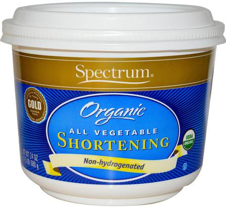 Organic All Vegetable Shortening, 24 oz (680 g) by Spectrum Naturals, 食品,烘焙助劑,植物起酥油 HK 香港