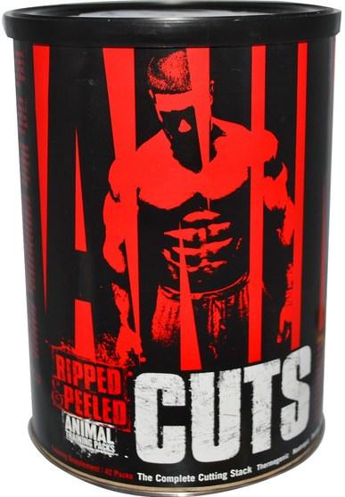運動,肌肉 - Universal Nutrition, Animal Cuts, Ripped & Peeled, Training Supplement, 42 Packs