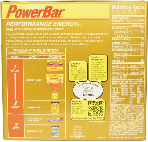 運動,蛋白質棒 - PowerBar, Performance Energy, Chocolate Peanut Butter, 12 Bars, 2.29 oz (65 g) Each