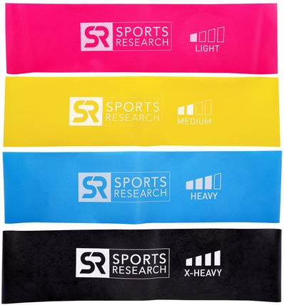 Mini Loop Bands, 4 Loop Bands by Sports Research, 運動,家庭,鍛煉/健身裝備 HK 香港