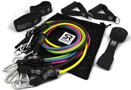 Performance Resistance Bands, 5 Bands by Sports Research, 運動,家庭,鍛煉/健身裝備 HK 香港