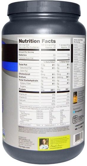 運動,運動,蛋白質 - Vega, Sport Performance Protein, Vanilla Flavor, 29.2 oz (828 g)