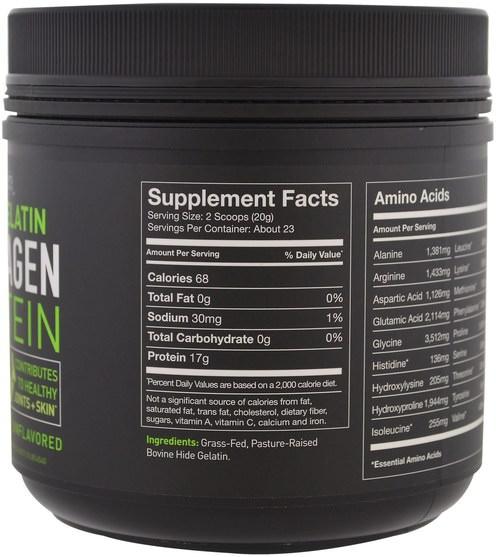 運動,運動 - Sports Research, Beef Gelatin Collagen Protein, Unflavored, 16 oz (454 g)