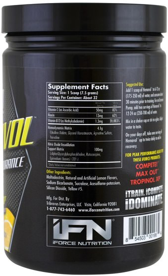 運動,鍛煉 - iForce Nutrition, Xtreme Series, Hemavol Powder, Lemon Drop, 8.5 oz (240 g)