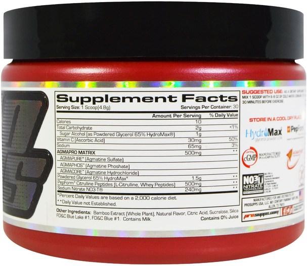 運動,鍛煉,肌肉 - ProSupps, NO3 Drive, Nitric Oxide Amplifier, Blue Razz, 5.1 oz (144 g)