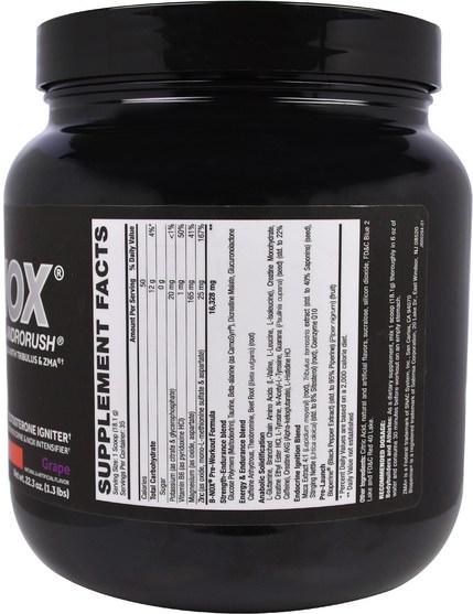 運動,鍛煉,一氧化氮 - Betancourt, B-Nox Androrush, Grape, 22.3 oz (1.3 lbs)