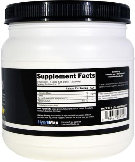運動,鍛煉,一氧化氮 - Controlled Labs, White Pipes, Tropical Pineapple, 12.2 oz (345 g)