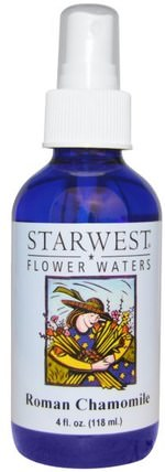 Flower Waters, Roman Chamomile, 4 fl oz (118 ml) by Starwest Botanicals, 沐浴,美容,香薰精油,洋甘菊油 HK 香港