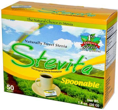 Spoonable Stevia, 50 Packets, 1.8 oz (50 g) by Stevita, 食物,甜味劑 HK 香港