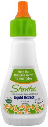 Stevia Liquid Extract, 1.35 fl oz (40 ml) by Stevita, 食物,甜味劑 HK 香港