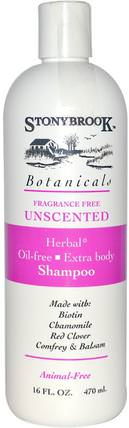 Herbal Shampoo, Unscented, 16 fl oz (470 ml) by Stony Brook Botanicals, 洗澡,美容,洗髮水,頭髮,頭皮,護髮素 HK 香港