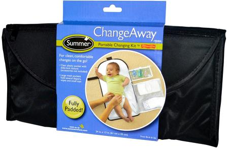 ChangeAway, Portable Changing Kit, From Birth & Up, 24 in x 13 in (61 cm x 33 cm) by Summer Infant, 兒童健康,嬰兒,兒童,嬰兒旅行用品,尿布 HK 香港