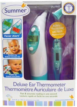 Deluxe Ear Thermometer by Summer Infant, 兒童健康,嬰兒,兒童 HK 香港
