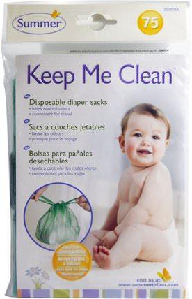 Keep Me Clean, Disposable Diaper Sacks, 75 Count by Summer Infant, 兒童健康,嬰兒,兒童,嬰兒旅行用品,尿布,一次性尿布 HK 香港