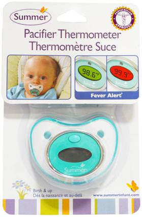 Pacifier Thermometer, Birth and Up by Summer Infant, 兒童健康,嬰兒,兒童,奶嘴 HK 香港