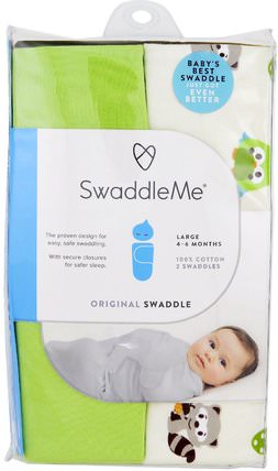 Swaddle Me, Original Swaddle, Large, 4-6 Months, Woodland Friends, 2 Swaddles by Summer Infant, 兒童健康,嬰兒,兒童 HK 香港