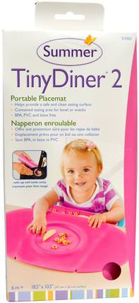 Tiny Diner 2, Pink, Portable Placemat, 1 Placemat by Summer Infant, 兒童健康,嬰兒,兒童,嬰兒旅行配件,兒童食品 HK 香港