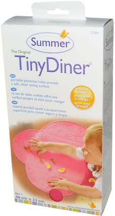 The Original Tiny Diner, Portable Placemat, Pink, 1 Mat by Summer Infant, 兒童健康,嬰兒,兒童,嬰兒旅行配件,兒童食品 HK 香港