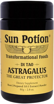 Astragalus Powder, Wildcrafted, 2.8 oz (80 g) by Sun Potion, 補充劑,adaptogen,感冒和病毒,黃芪 HK 香港