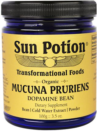 Mucuna Pruriens Powder, Organic 3.5 oz (100 g) by Sun Potion, 草藥,阿育吠陀阿育吠陀草藥,mucuna HK 香港