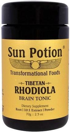 Sun Potion, Rhodiola Powder, Wildcrafted, 2.5 oz (70 g) 補充劑,adaptogen,rhodiola rosea