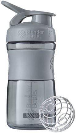 BlenderBottle, SportMixer Tritan Grip, Pebble Grey, 20 oz by Sundesa, 家,廚具,杯碟碗 HK 香港