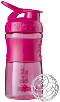 BlenderBottle, SportMixer Tritan Grip, Pink, 20 oz by Sundesa, 家,廚具,杯碟碗 HK 香港