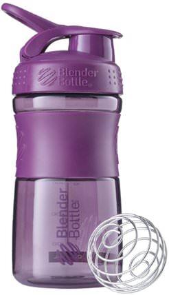 BlenderBottle, SportMixer Tritan Grip, Plum, 20 oz by Sundesa, 家,廚具,杯碟碗 HK 香港