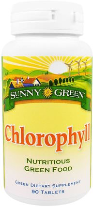 Chlorophyll, 90 Tablets by Sunny Green, 補品,礦物質,銅 HK 香港