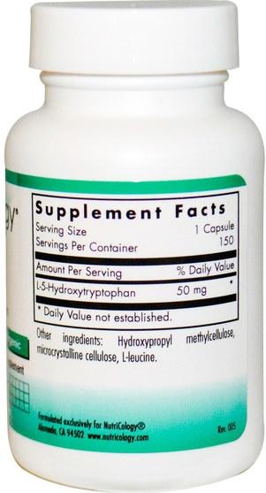 補充劑,5-htp,5-htp 50 mg - Nutricology, 5-HTP, 150 Veggie Caps