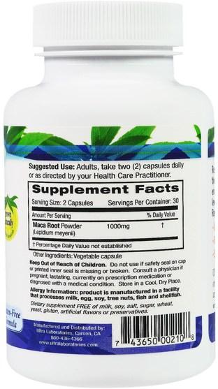 補充劑,adaptogen,男性,瑪卡 - Fruitrients, Maca Root, 60 Veggie Caps