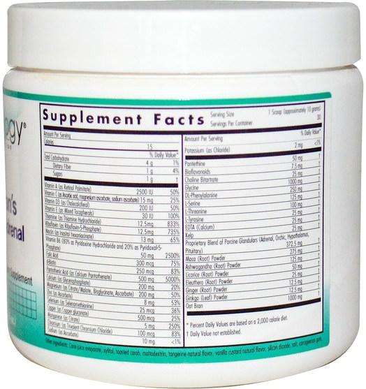補充劑,腎上腺 - Nutricology, Dr. Wilsons Dynamite Adrenal, 10.6 oz (300 g)