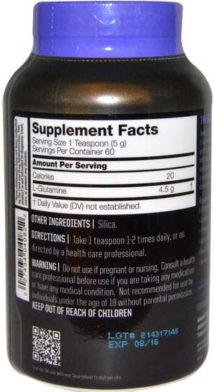 補充劑,氨基酸,l谷氨酰胺,l谷氨酰胺粉末,運動,運動 - Twinlab, Glutamine Fuel Powder, Unflavored, 10.6 oz (300 g)