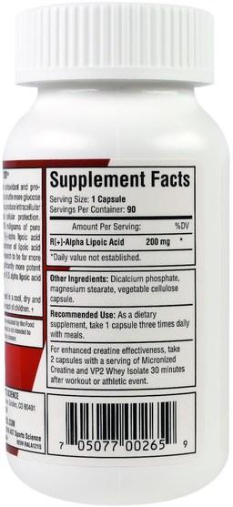 補充劑,抗氧化劑,α硫辛酸,α硫辛酸200毫克 - AST Sports Science, R-ALA 200, 200 mg, 90 Capsules