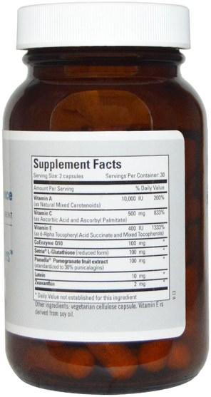 補充劑,抗氧化劑,輔酶q10,coq10 - Metabolic Maintenance, Deluxe Scavengers with CoQ10, 60 Capsules