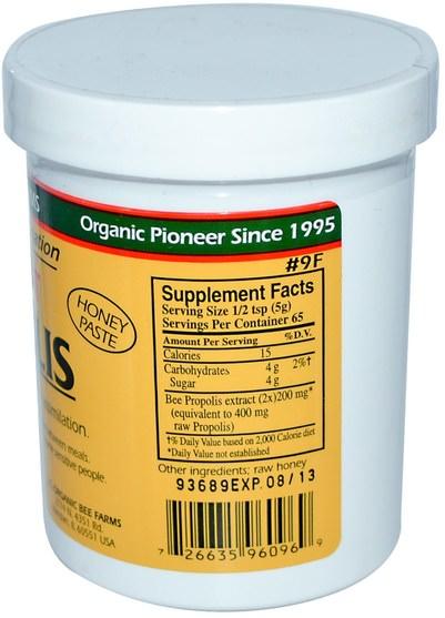 補充劑,蜂產品,蜂膠 - Y.S. Eco Bee Farms, Propolis, Extract, 11.4 oz (323 g)
