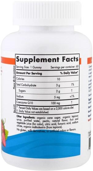 補充劑,輔酶q10,coq10 - Nordic Naturals, CoQ10 Gummies, Strawberry, 100 mg, 60 Gummies