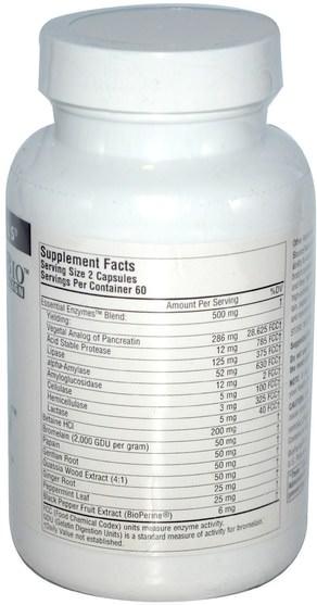 補充劑,消化酶 - Source Naturals, DigestActiv, 120 Capsules