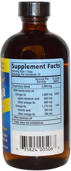 補充劑,efa omega 3 6 9(epa dha) - North American Herb & Spice Co., PureOmega, Amazon Sacha Inchi Oil, 8 fl oz (237 ml)