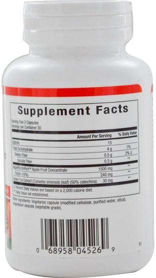 補充劑,纖維,蘋果果膠 - Natural Factors, ApplePectinRich, Super Strength Apple Pectin Concentrate, 90 Veggie Caps