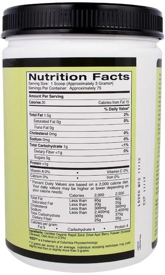 補品,水果提取物,超級水果,阿薩伊粉 - Madre Labs, Simply Acai Organic Powder, 8 oz (227 g)