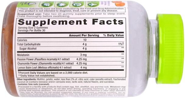 補品,gummies - VitaFusion, SleepWell, Adult Sleep Support, 60 Gummies