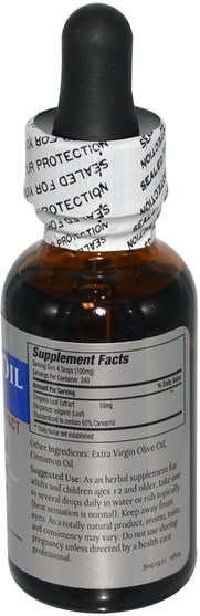 補充劑,牛至油,牛至油液 - Zand, Oregano Oil, 1 fl oz (30 ml)