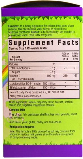 補充劑,益生菌,兒童益生菌,穩定的益生菌 - Bluebonnet Nutrition, Super Earth, Rainforest Animalz Probiotic, Natural Raspberry Flavor, 60 Chewable Wafers