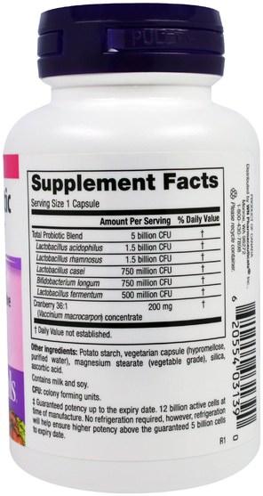 補充劑,益生菌,蔓越莓 - Webber Naturals, Womens Probiotic with Cranberry Extract, 5 Billion Active Cells, 45 Capsules