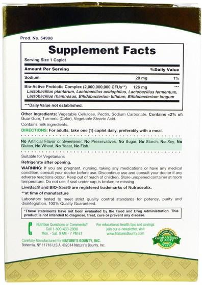 補充劑,益生菌,穩定的益生菌 - Natures Bounty, Probiotic CD, 30 Caplets